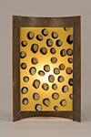 Amber Dots by Joan Bazaz (Glass & Copper Table Lamp)