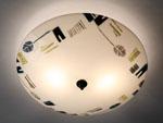 Retro Leaf by Joan Bazaz (Glass Ceiling Light)