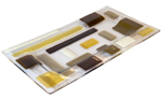 Random Tray: Earth Tones by Renato Foti (Art Glass Tray)