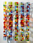 Small Retro Mesh Sculpture by Renato Foti (Art Glass Wall Sculpture)