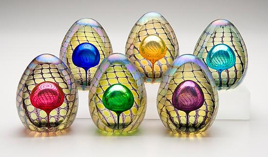 Faceted Reptilian Egg Paperweights
