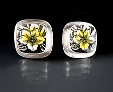 Meadow Earrings by Amy Faust (Silver & Ceramic Earrings)