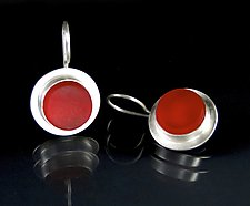 Red Tail Light Glass by Amy Faust (Art Glass Earrings)