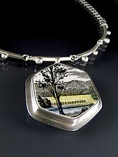 Meadow Necklace by Amy Faust (Silver & Ceramic Necklace)