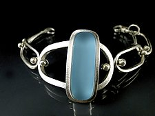 Retro Oval Bracelet by Amy Faust (Art Glass Bracelet)