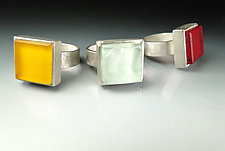 Color Block Ring by Amy Faust (Silver & Glass Ring)