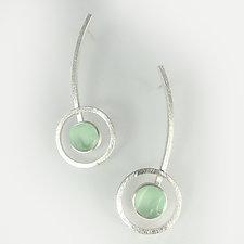 Orphist Earrings by Amy Faust (Art Glass & Silver Earrings)