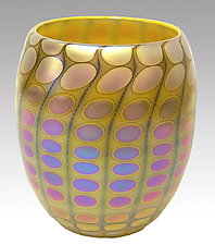 Opal Yellow Nutty Bowl by Thomas Philabaum (Art Glass Bowl)