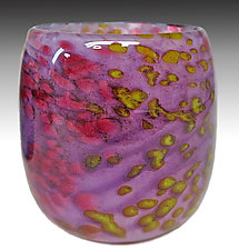 Purple Mini Riverbed Bowl by Thomas Philabaum (Art Glass Bowl)