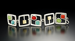 Cubes and Cabs Bracelet by Amy Faust (Silver & Glass Bracelet)