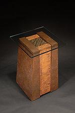 Dark Dunes Pedestal Table by David M Bowman and Reed C Bowman (Metal Pedestal Table)