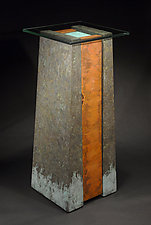 Bayou Pedestal Table by David M Bowman and Reed C Bowman (Metal Side Table)