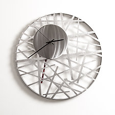 Contrails Wall Clock 14'' by Ken Girardini and Julie Girardini (Metal Clock)