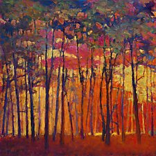 Through the Orange Forest by Ken Elliott (Giclee Print)