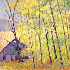 Barn at the Edge of the Woods by Ken Elliott (Giclee Print)