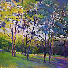 Trees in Half Shade by Ken Elliott (Giclee Print)