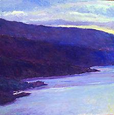 Water's Edge in Blue by Ken Elliott (Oil Painting)