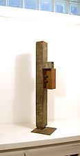 Foghorn desk sculpture by David M Bowman and Reed C Bowman (Metal Sculpture)