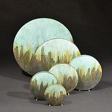 Tricolor Moon Vase by David M Bowman and Reed C Bowman (Metal Vase)