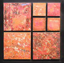 Red Copper Modular Wall Piece Set by David M Bowman and Reed C Bowman (Metal Wall Sculpture)