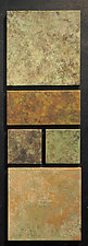 Modular Wallpiece Set in Patina Green by David M Bowman and Reed C Bowman (Metal Wall Sculpture)