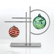 Double Ornament Display by Ken Girardini and Julie Girardini (Metal Ornament Stand)