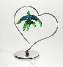 Heart Ornament Display by Ken Girardini and Julie Girardini (Metal Ornament Stand)