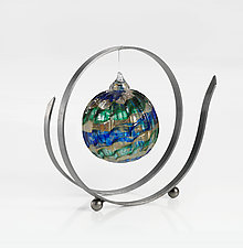 Ribbon Stand by Ken Girardini and Julie Girardini (Metal Ornament Stand)
