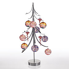 Twelve Days Ornament Tree by Ken Girardini and Julie Girardini (Metal Ornament Stand)