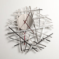 Contrails Wall Clock 20'' by Ken Girardini and Julie Girardini (Metal Clock)