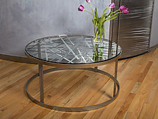 Contrails Coffee Table by Ken Girardini and Julie Girardini (Metal Coffee Table)