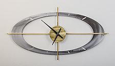 Oculus Clock by Ken Girardini and Julie Girardini (Metal Clock)
