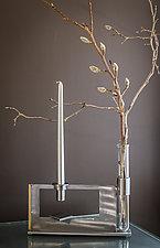 Finestra Double Vase & Candleholder by Ken Girardini and Julie Girardini (Metal Candleholder or Vase)
