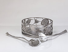 Lotus Salad Set by Ken Girardini and Julie Girardini (Metal Salad Set)