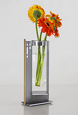 Bold Finestra Vase by Ken Girardini and Julie Girardini (Metal Vase)