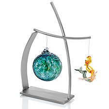 Crosswinds Ornament Display by Ken Girardini and Julie Girardini (Metal Ornament Stand)