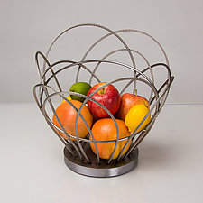Lulu Basket by Ken Girardini and Julie Girardini (Metal Basket)