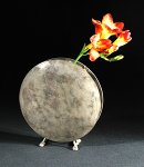 Silver-Gray Moon Vase by David M Bowman and Reed C Bowman (Brass Vase)