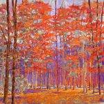 Cherry Red Forest by Ken Elliott (Giclée Print)