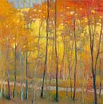Yellows at the Creek Left by Ken Elliott (Giclee Print)