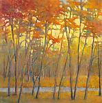 Yellows at the Creek right by Ken Elliott (Giclee Print)