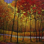 Yellows at the Creek IV by Ken Elliott (Giclee Print)