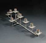Nine-Piece Rod Candelabra by David M Bowman and Reed C Bowman (Metal Candleholder)