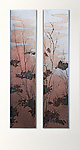 River's Edge Diptych by Ken Girardini and Julie Girardini (Metal Wall Sculpture)