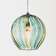 8 Globe Pendant by Tracy Glover (Art Glass Pendant Lamp)