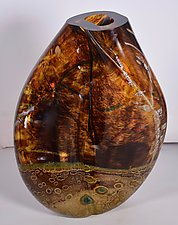 Earthtone Cintura by Randi Solin (Art Glass Vase)