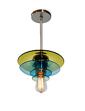 Flower Pendant by Tracy Glover (Art Glass Pendant Lamp)