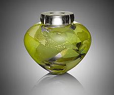 Camo Bowl by Randi Solin (Art Glass Vessel)
