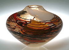 Autumn Bowl by Randi Solin (Art Glass Vessel)