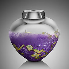 Orchid Emperor Bowl by Randi Solin (Art Glass Vessel)